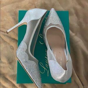 Rhinestone Silver Heels